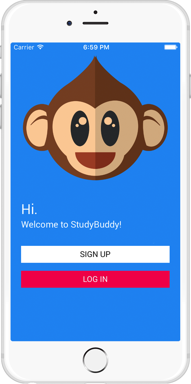 Study Buddy iphone App Home Screenshot